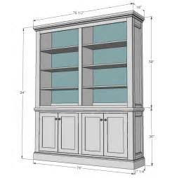 Bookshelf With Cabinet Base by Ana White Shanty Hutch Diy Projects
