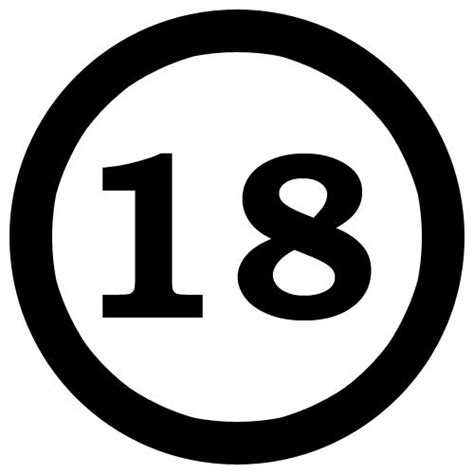 Number 18 clipart - BBCpersian7 collections