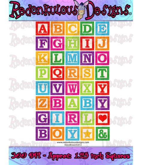Alphabet Building Blocks Clip Art