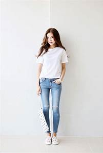 Straight Neck Tee | Korean Fashion | Pinterest