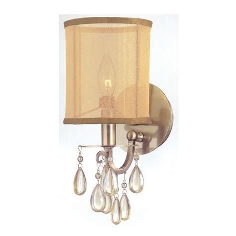 in wall sconce sconce wall light with gold shade in antique brass