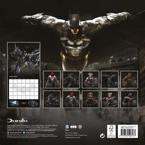 batman arkham knight calendars abposterscom