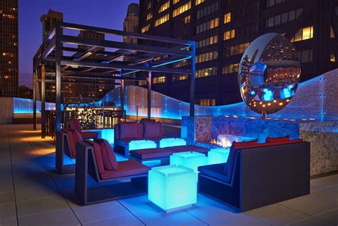 Chicago Fireplace by Rooftop Lounge Lighting The Brooklyn Pinterest
