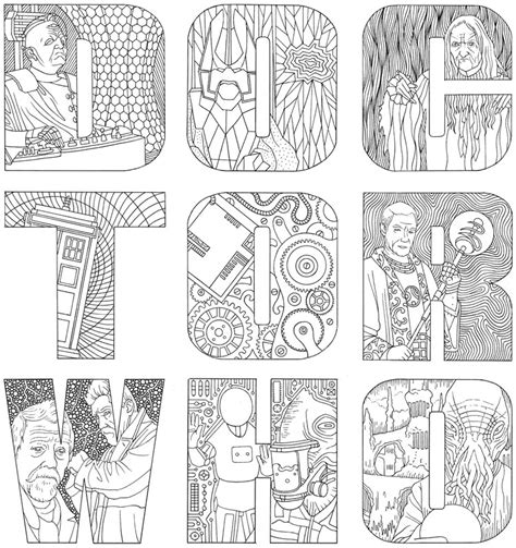 doctor   colouring book merchandise guide