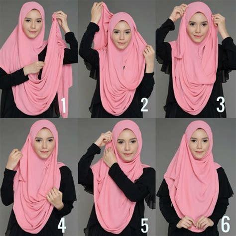 inspirasi tutorial hijab modern syari terbaru