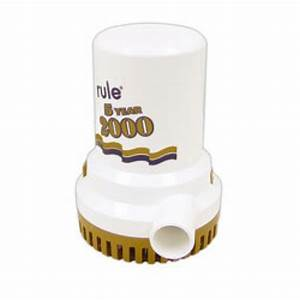 Rule Manual Electric Bilge Pump 2000 Gph 12 Volt