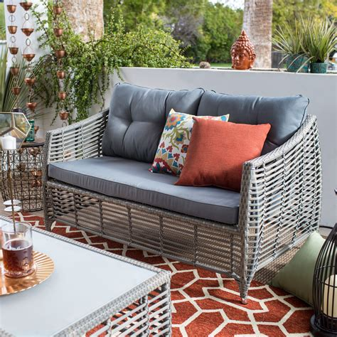 Outdoor Loveseats by Belham Living Kambree All Weather Wicker Loveseat With