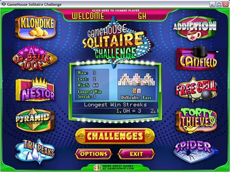 gamehouse solitaire challenge gamehouse