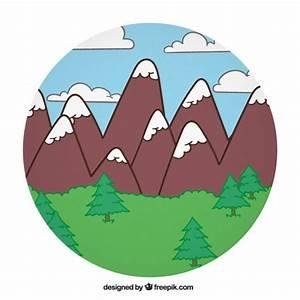 Paisaje de montaña de dibujos Descargar Vectores gratis