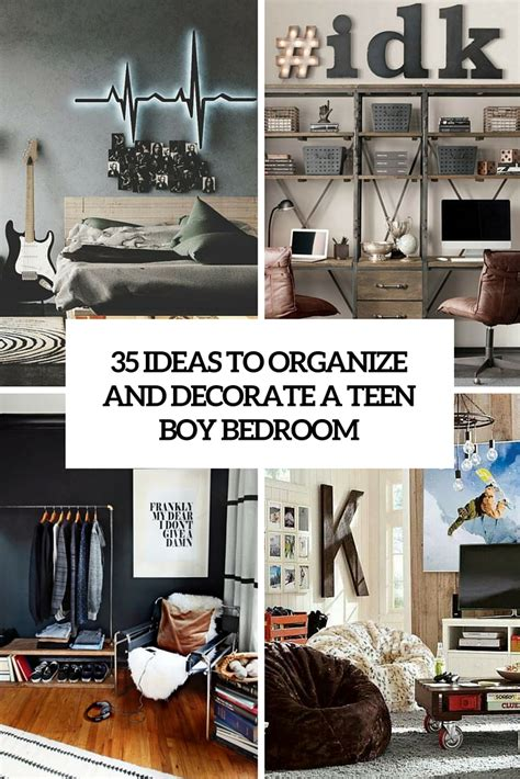 Organize Bedroom Ideas by 35 Ideas To Organize And Decorate A Boy Bedroom