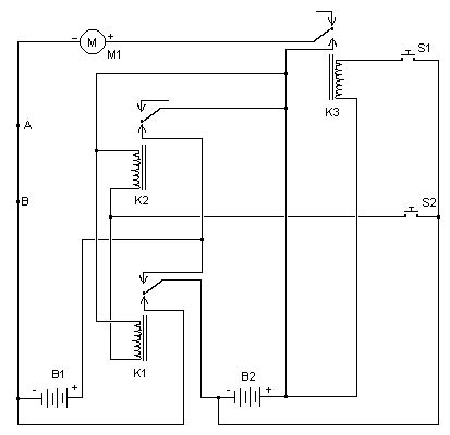 Simple Two Speed Contactor Motor Controller Control