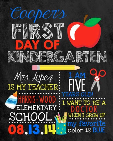 first day of school chalkboard day of school sign chalkboard sign by darlingsailordesigns children