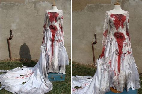 custom made bloody zombie corpse bride wedding dress gown