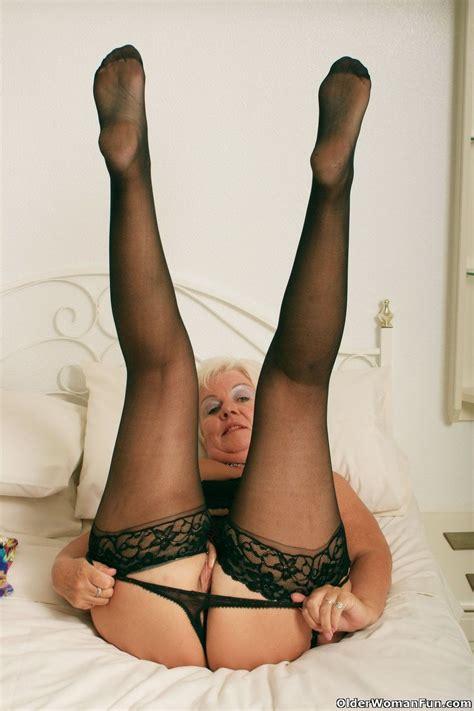 chubby grandma sandie in black stockings at granny sex pics