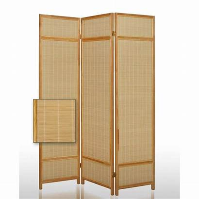 Screen Bamboo Straw Brown Panel Foldable Wooden