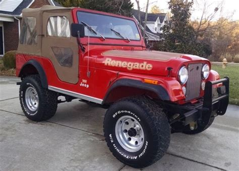 jeep cj  renegade  levis package