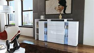 Highboard Weiß Hochglanz : highboard sideboard schrank kommode lissabon wei hochglanz naturfarben ebay ~ Markanthonyermac.com Haus und Dekorationen