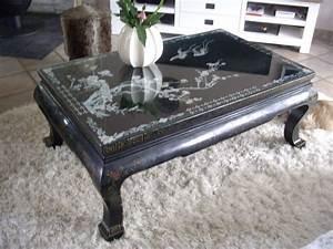 Table Basse Chinoise : table basse chinoise teck clasf ~ Melissatoandfro.com Idées de Décoration