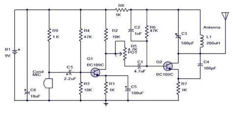 Hobby Electronics Simple Transmitter Circuit