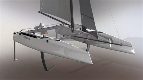 Catamaran Hull Design by Toro 34r Design Catamaran Inc