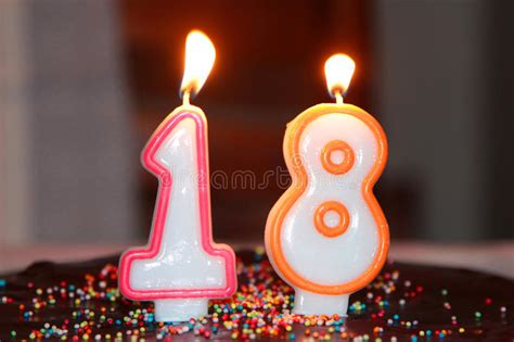 Birthday Candles Stock Photo Image Candle Eighteen