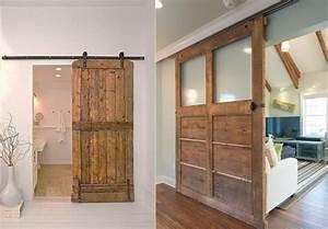 Fabriquer Sa Porte Coulissante Sur Mesure : 15 inspirations pour recycler une porte ancienne joli place ~ Premium-room.com Idées de Décoration