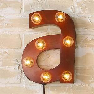 Vintage style sign letters sconce lamp shades by for Letter a sign
