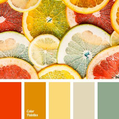 green and orange color palette ideas