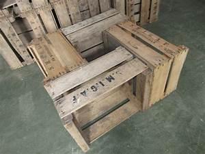 Table Basse Caisse Bois : caisses pommes offres septembre clasf ~ Nature-et-papiers.com Idées de Décoration