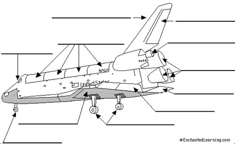 Label The Space Shuttle Diagram Enchantedlearning