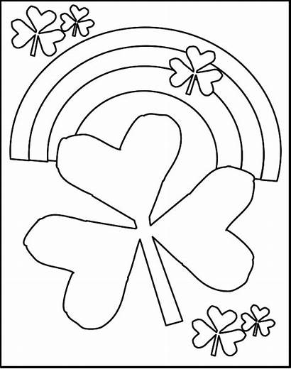 Shamrock Coloring Pages Rainbow Printable