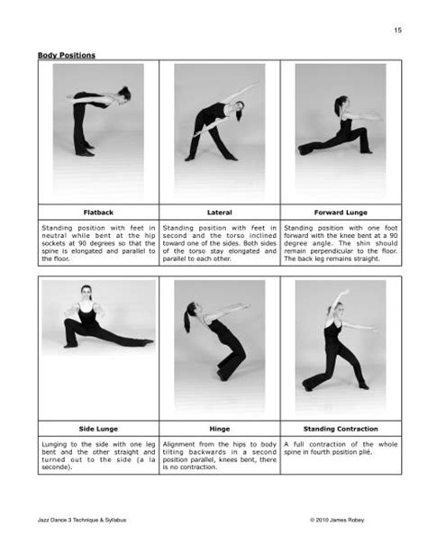 position de danse moderne jazz studios jazz and on