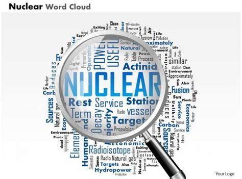 nuclear word cloud  magnifying glass highlighting
