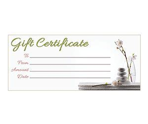 The printable is made and made at specific qualities. Orchid Zen Gift Certificate | Massage gift certificate, Gift certificate template, Free gift ...