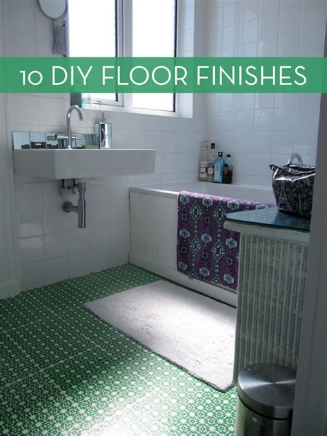 easy  inexpensive diy floor finishes curbly