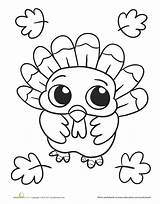 Coloring Pages Turkey Thanksgiving sketch template