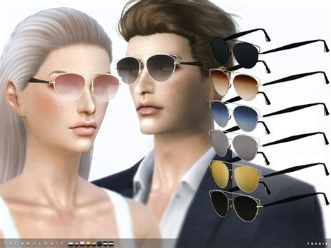 Technologic Sunglasses by toksik at TSR » Sims 4 Updates