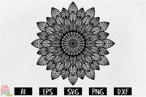 You can use our free cutting files with your silhouette or cricut cutting machines. Sunflower Mandala SVG - Mandala Cut Files