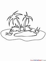 Oasis Coloring Sheet Insel Schwarz Clipart Island Pages Weiss Designlooter Title Sheets 973px 66kb Weis sketch template