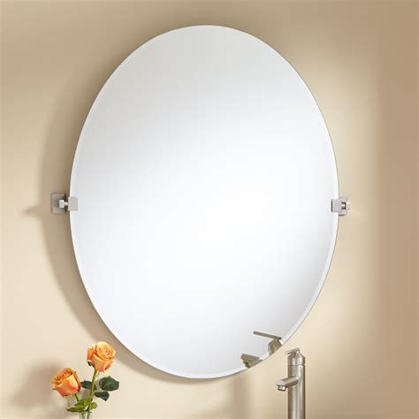 Tilting Bathroom Mirror by 36 Quot Helsinki Oval Tilting Mirror Modern Bathroom Mirrors