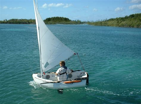 Sailing Boat Sails by Dinghy Lifeboat Yacht Tender Sailing Dinghy