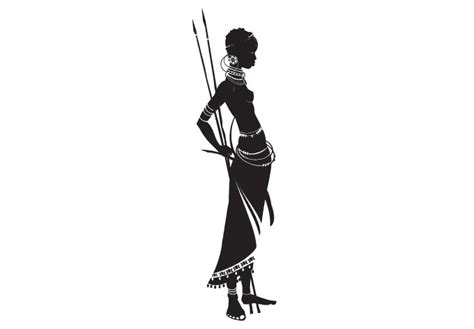 masai warrior wall decal tribe vinyl decor