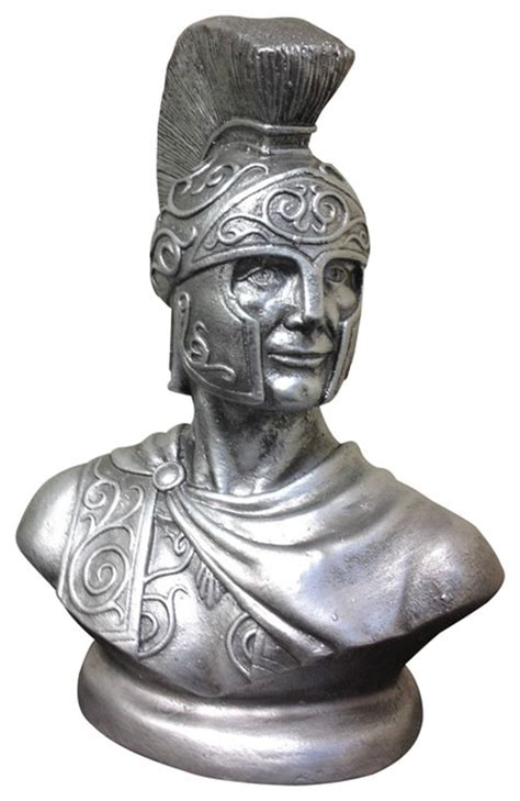 spartan warrior bust greek god roman soldier statue