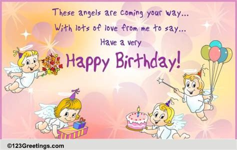 birthday angels  birthday wishes ecards greeting cards