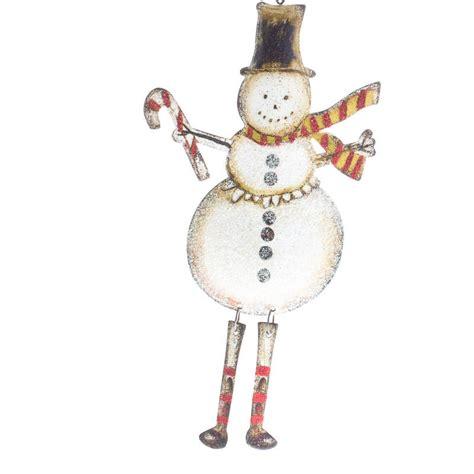 rustic dangly snowman ornament christmas ornaments