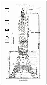 Eiffel Tower Engineering Drawing 1886 Poster By Daniel Hagerman
