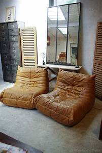 13 idees deco de canape en cuir marron With tapis design avec canapé cuir ligne roset occasion