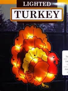 decoration lighted shimmering thanksgiving turkey window light wall window ebay