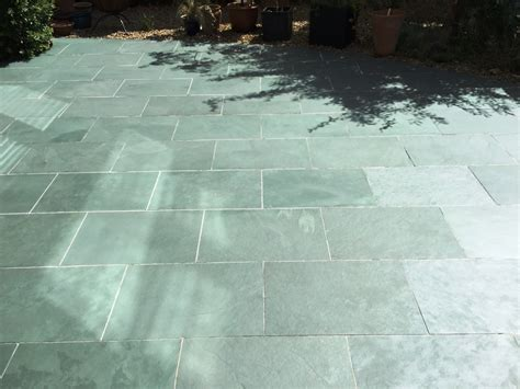 restoring the appearance of a slate patio cleaning