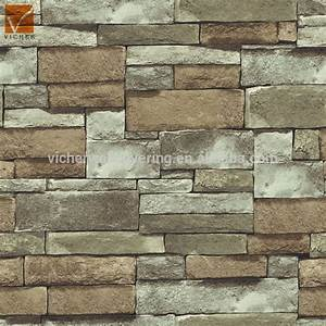 3d Natural Stone Wallpaper Popular Brick Design ...